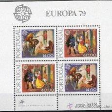 Sellos: PORTUGAL AÑO 1979 YV HB 27*** EUROPA - HISTORIA DEL CORREO POSTAL. Lote 37875363
