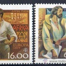 Sellos: PORTUGAL AÑO 1980 YV 1466/67*** EUROPA - EXPLORADORES NAVEGANTES DESCUBRIDORES - PERSONAJES CÉLEBRES. Lote 37875441