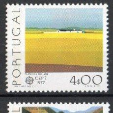 Sellos: PORTUGAL AÑO 1977 YV 1340/41*** EUROPA - VISTAS Y PAISAJES. Lote 37875801