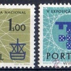 Sellos: PORTUGAL AÑO 1960 YV 881/82*** EXPOSICIÓN FILATÉLICA NACIONAL EN LISBOA - FILATÉLIA - BARCOS. Lote 37876303