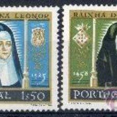 Sellos: PORTUGAL AÑO 1958 YV 853/56*** V CENTº NACIMIENTO DE LA REINA LEONOR - REYES Y REINAS - PERSONAJES. Lote 37876348