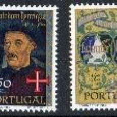 Sellos: PORTUGAL AÑO 1960 YV 873/78*** V CENTº DE LA MUERTE DEL INFANTE DON HENRIQUE AVIZ - PERSONAJES. Lote 37876405