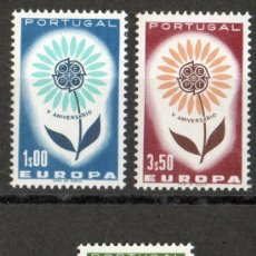 Sellos: PORTUGAL AÑO 1964 YV 944/46*** EUROPA - FLORES. Lote 37930835