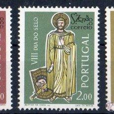 Sellos: PORTUGAL AÑO 1962 YV 911/13*** DÍA DEL SELLO - SAN ZENÓN - RELIGIÓN. Lote 39380997