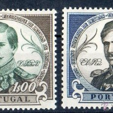 Sellos: PORTUGAL AÑO 1961 YV 884/85*** CENTº FACULTAD DE LETRAS DE LISBOA - REY DON PEDRO V - PERSONAJES. Lote 39393880