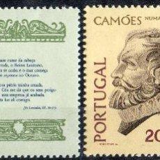 Sellos: PORTUGAL AÑO 1975 YV 1472/73*** IV CENTENARIO DE LA MUERTE DEL POETA LUIS VAZ DE CAMOES - PERSONAJES. Lote 39411011