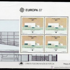 Sellos: PORTUGAL AÑO 1987 YV HB 55*** EUROPA - ARQUITECTURA MODERNA. Lote 39465378