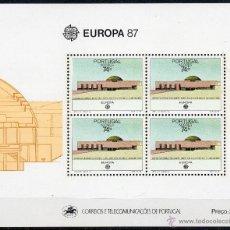 Sellos: PORTUGAL AZORES AÑO 1987 YV HB 8*** EUROPA - ARQUITECTURA MODERNA. Lote 39465405