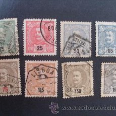 Sellos: PORTUGAL,1898-1905,D.CARLOS I,NUEVOS VALORES,AFINSA 140-147,COMPLETA,USADOS,LEER DESCRIPCION. Lote 43256273
