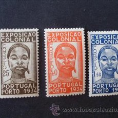 Sellos: PORTUGAL,1934,1ª EXPO.COLONIAL,AFINSA 561-563*,YVERT 572-574*,SCOTT 558-560*,COMPLETA,FIJASELLOS. Lote 44859333