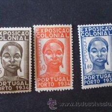 Sellos: PORTUGAL,1934,1ª EXPO.COLONIAL,AFINSA 561-563*,YVERT 572-574*,SCOTT 558-560*,COMPLETA,FIJASELLOS. Lote 44859389