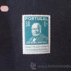 Sellos: PORTUGAL,1940,1º CENT.SELLO POSTAL,AFINSA 603*,YVERT 604*,SCOTT 599*,NUEVO,GOMA,FIJASELLOS. Lote 45021391