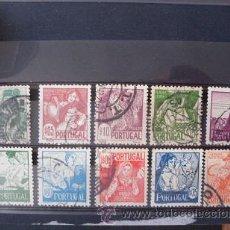 Sellos: PORTUGAL,1941,COSTUMBRES PORTUGUESAS,AFINSA 607-616,YVERT 616-625,SCOTT 605-614,COMPLETA,USADOS. Lote 45067495