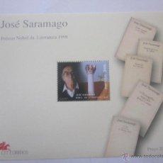 Sellos: SELLOS PORTUGAL HB JOSÉ SARAMAGO PREMIO NOBEL LITERATURA 1998. NUEVO. Lote 103570436