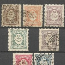 Sellos: PORTUGAL 1904 TASA YVERT NUM. 7/13 SERIE COMPLETA USADA. Lote 48801671