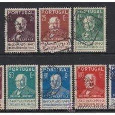 Sellos: PORTUGAL 1940 SERIE COMPLETA ROWLAND HILL PRIMER DIA. Lote 49655178