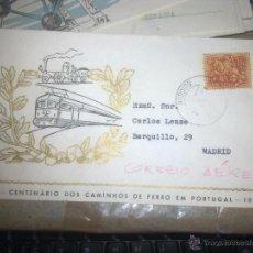 Sellos: 1856 - CENTENARIO DOS CAMINHOS DE FERRO EM PORTUGAL - 1956. Lote 49700225