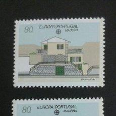 Sellos: SELLOS DE MADEIRA ( PORTUGAL). EUROPA CEPT. YVERT 140/1 SERIE COMPLETA NUEVA SIN CHARNELA.. Lote 52566060