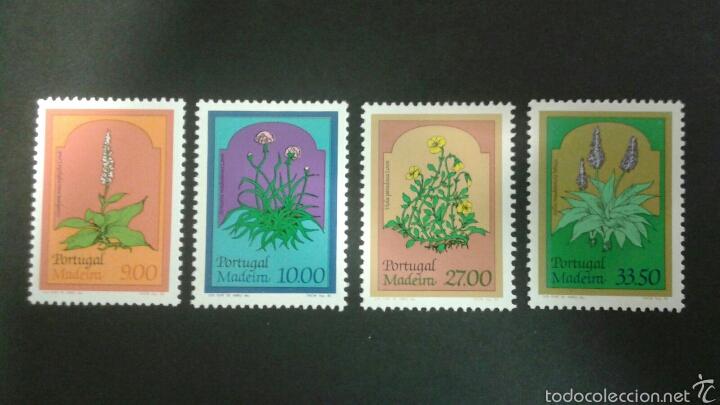 SELLOS DE MADEIRA ( PORTUGAL ) FLORA. YVERT 83/6. SERIE COMPLETA NUEVA SIN CHARNELA. (Sellos - Extranjero - Europa - Portugal)
