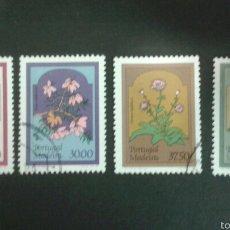 Sellos: SELLOS DE MADEIRA ( PORTUGAL ). FLORA. YVERT 91/4. SERIE COMPLETA USADA.. Lote 52566314