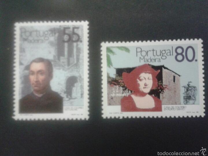 SELLOS DE MADEIRA (PORTUGAL) DESCUBRIMIENTO. COLÓN. YVERT 129/30. SERIE COMPLETA NUEVA SIN CHARNELA. (Sellos - Extranjero - Europa - Portugal)