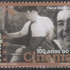 Sellos: PORTUGAL IVERT 2113, CENTENARIO DEL CINE: CINESTAS PORTUGUESES: VASCO SANTANA, NUEVO ***. Lote 52705053