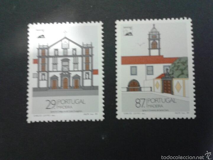 SELLOS DE MADEIRA (PORTUGAL ). EUROPA CEPT. YVERT 134/5. SERIE COMPLETA NUEVA SIN CHARNELA. IGLESIAS (Sellos - Extranjero - Europa - Portugal)