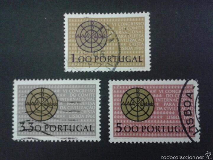 SELLOS DE PORTUGAL. YVERT 981/3. SERIE COMPLETA USADA. (Sellos - Extranjero - Europa - Portugal)