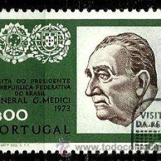 Sellos: PORTUGAL 1973- YV 1182 AFI 1184 (VISITA DEL PRESIDENTE MEDICI). Lote 53593577