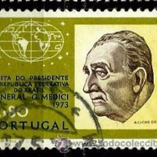 Sellos: PORTUGAL 1973- YV 1183 AFI 1185 (VISITA DEL PRESIDENTE MEDICI). Lote 53593587