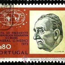 Sellos: PORTUGAL 1973- YV 1185 AFI 1187 (VISITA DEL PRESIDENTE MEDICI). Lote 53593612
