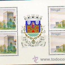 Sellos: PORTUGAL ** & CASTILLOS Y ESCUDOS DE PORTUGAL, PORTO 1987 (1827). Lote 53608786