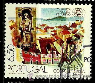 PORTUGAL 1980- YV 1476 AFI 1474 (CONFERENCIA MUNDIAL DE TURISMO) (Sellos - Extranjero - Europa - Portugal)