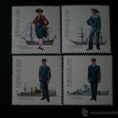 Sellos: PORTUGAL 1983 IVERT 1565/8 *** UNIFORMES MILITARES (I) - ARMADA. Lote 53747446