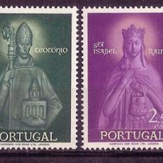 Sellos: PORTUGAL 1958 – SANTA ISABEL Y SAN TEOTONIO. – SERIE COMPLETA (4V) – PNR. YVERT: 845/848. Lote 54371904