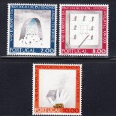 Sellos: PORTUGAL 1278/80** - AÑO 1975 - ARQUITECTURA - AÑO EUROPEO DEL PATRIMONIO ARQUITECTONICO. Lote 143011924