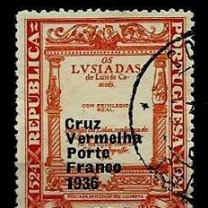 Sellos: PORTUGAL 1935- YV FR087 AFI CR61 (CRUZ ROJA PORTUGUESA) (SELLO-FRANQUICIA). Lote 54789825
