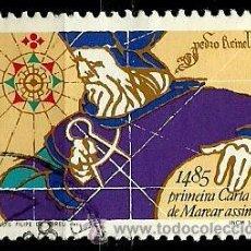 Sellos: PORTUGAL 1985- YV 1638 AFI 1706 (PEDRO REINEL, CARTOGRAFO). Lote 210613002
