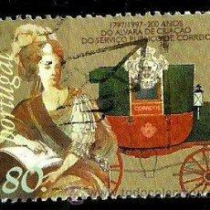 Sellos: PORTUGAL 1997- YV 2191 AFI 2445 (INCORPORACION DEL CORREO POSTAL AL SERVICIO PUBLICO, 200 AÑOS). Lote 210613166