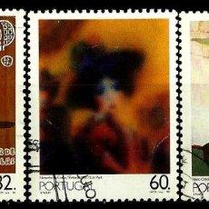 Sellos: PORTUGAL 1990- YV 1791/93 AFI 1923/25 (PINTURA PORTUGUESA Sº XX-GRUPO 5) (SERIE USADA. Lote 183956691