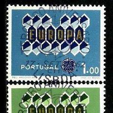 Sellos: PORTUGAL 1962- YV 0908/10 AFI 0898/00 (EUROPA CEPT) (SERIE USADA. Lote 55158263
