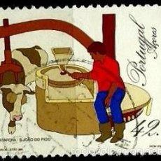 Sellos: PORTUGAL_AZORES 1993- YV 424 AFI 2133 (INGENIOS DE MOLER) USADO. Lote 218024761