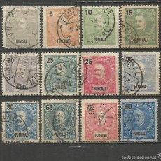 Sellos: FUNCHAL PORTUGAL 1897-1905 YVERT NUM. 13/24 (FALTA EL 16) MAS EL 27 USADOS. Lote 55811345