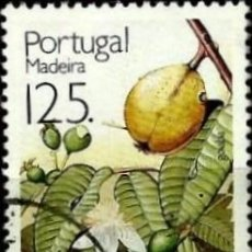 Sellos: PORTUGAL_MADEIRA 1992- YV 163 AFI 2060 (FRUTOS TROPICALES). Lote 210613818
