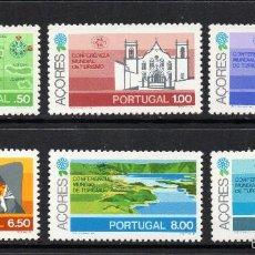 Sellos: AZORES 325/30** - AÑO 1980 - CONFERENCIA MUNDIAL DE TURISMO, MANILA. Lote 56623855