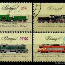 Sellos: PORTUGAL 1981- YV 1518/21 AFI 1541/44 (125 AÑOS DEL FERROCARRIL PORTUGUÉS) (SERIE USADA. Lote 57093854