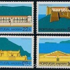 Sellos: PORTUGAL MADEIRA 1986 IVERT 112/5 *** ARQUITECTURA REGIONAL - FORTALEZAS DE MADEIRA. Lote 57533959
