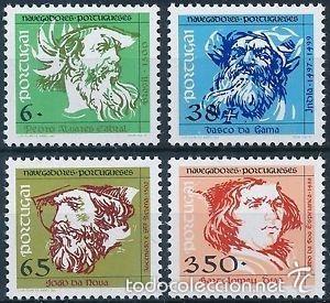 PORTUGAL 1992 IVERT 1885/8 *** NAVEGANTES PORTUGUESES (III) - SERIE BÁSICA (Sellos - Extranjero - Europa - Portugal)