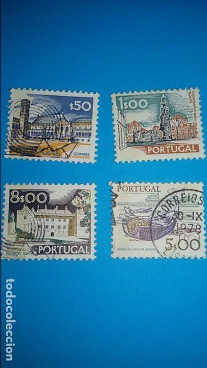 LOTE DE 4 SELLOS DE PORTUGAL. AÑOS 70. CIRCULADOS (Sellos - Extranjero - Europa - Portugal)