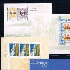 Sellos: PORTUGAL. AZORES Y MADEIRA. CONJUNTO DE 9 HOJAS BLOQUES NUEVAS Y SIN FIJASELLOS. Lote 62583980